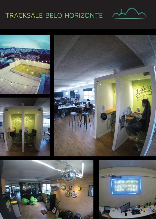 Fotos do escritório no Edifício Elektra, em Belo Horizonte (MG)