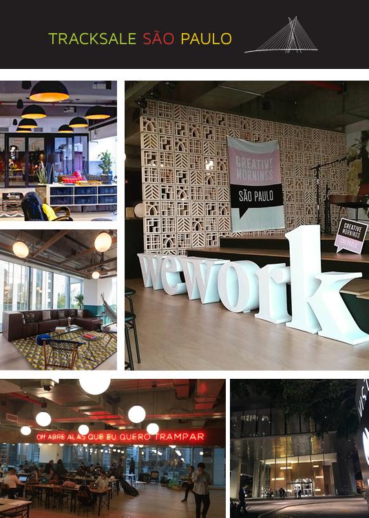 Fotos do escritório no WeWork, em São Paulo (SP)